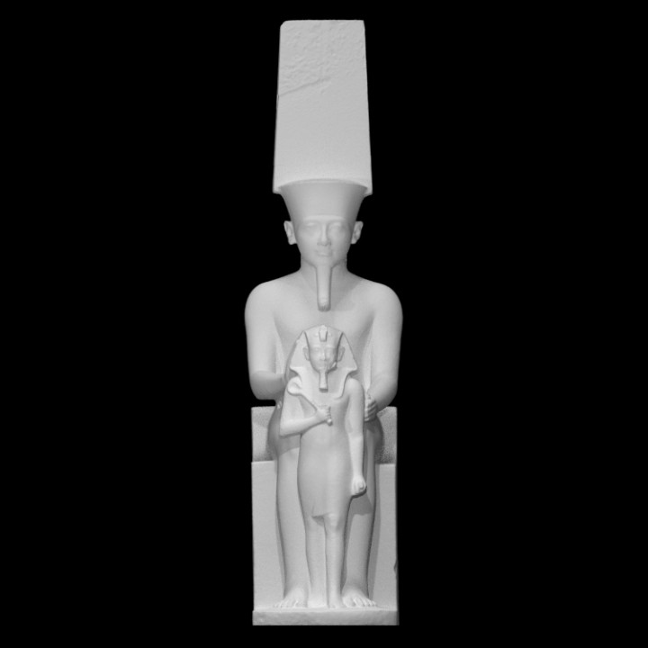 Statue of Amun and Horemheb