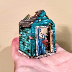 The Newport - Destroyed 28mm House Scenery