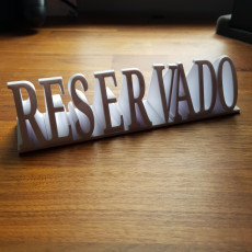 Picture of print of Reserved sign