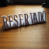 Reserved sign print image