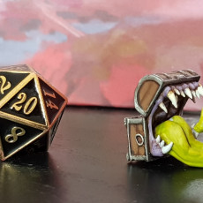 Picture of print of Mimic - Toothy Treasure Chest - Tabletop Miniature This print has been uploaded by l.czympiel@web.de