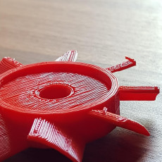 Picture of print of electric motor fan blades