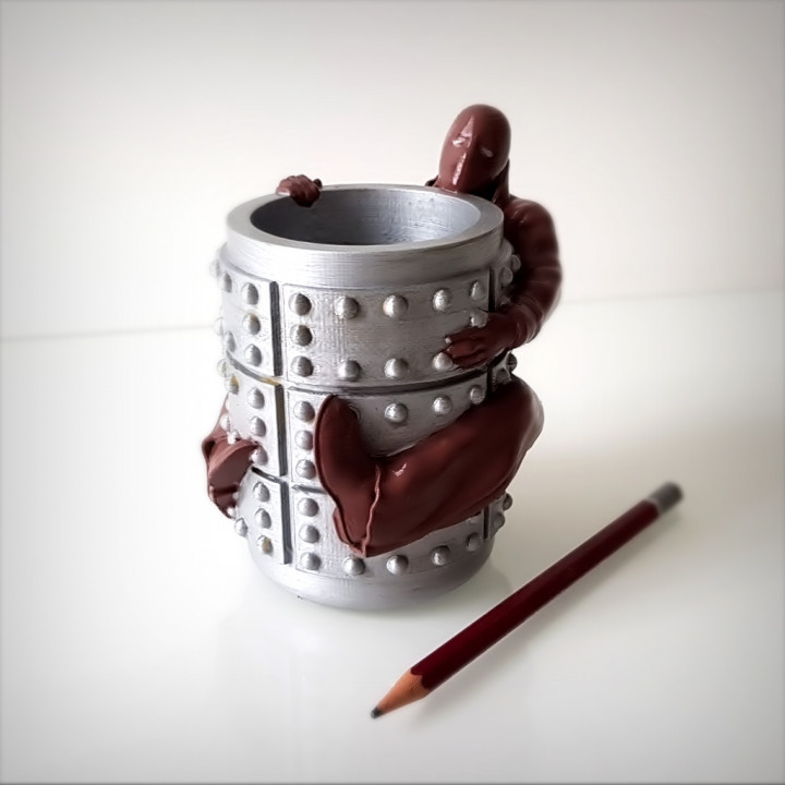 Immortal pen holder.