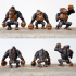 Cartoon Ape Three Pose Set image