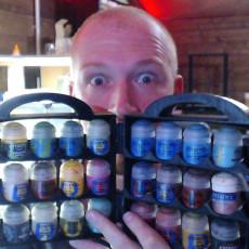 Paint suitcase, ,for GW, Vallejo, Army painter, etc...