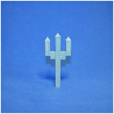 Picture of print of minecraft trident