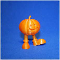 Picture of print of walking pumpkin