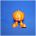 walking pumpkin print image