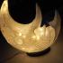 Grinning Moon Lamp print image
