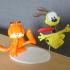 Garfield kicks odie image