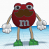 M&M guy #TinkerCharacters @MyMiniFactory @tinkercad image
