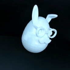 Picture of print of Mustache easter bunny