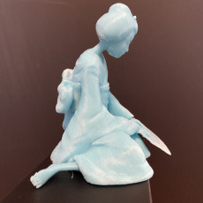 Picture of print of Sad Geisha 3D Sculpture 这个打印已上传 Benjamin Costello