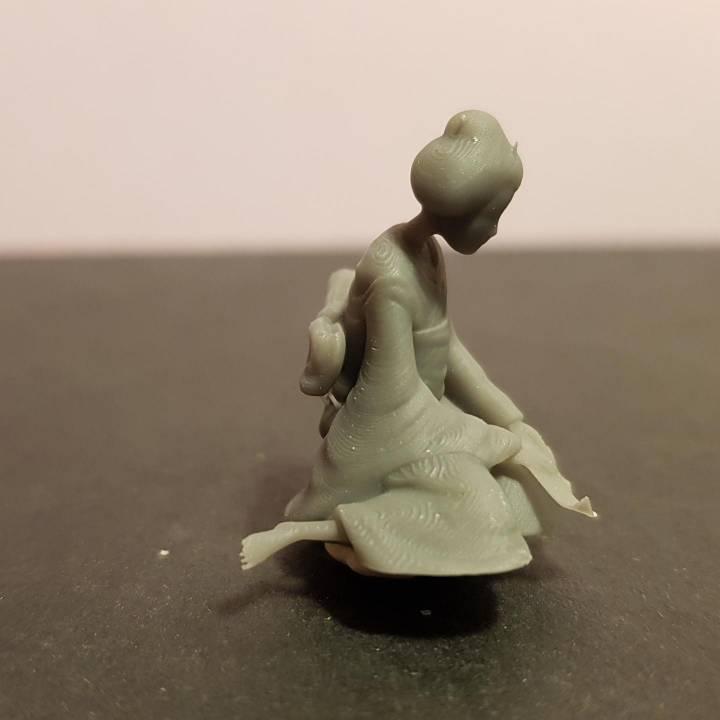 Sad Geisha 3D Sculpture