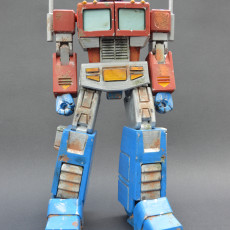 Picture of print of ARTICULATED G1 TRANSFORMERS OPTIMUS PRIME - NO SUPPORT