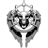 Skull and wings Pendant image