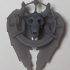 Skull and wings Pendant print image