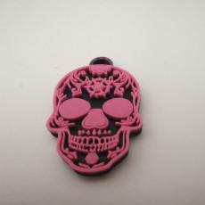 mexican skull keychain (llavero calavera mexicana)