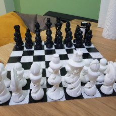 Picture of print of Organic Chess Set