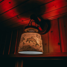Picture of print of Dolphin Lampshade
