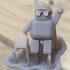 Picture of print of a Easter droid to help you find eggs