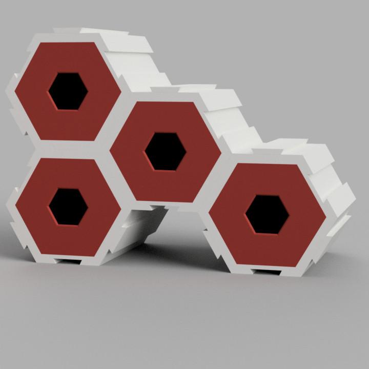 Hexagon Interlocking Storage Draws