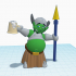 Gnorm, the Drunk Goblin Warrior #Tinkercharacters image