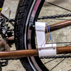 Bike 5V Generator that Clamps on for Phone or 5V Electronics