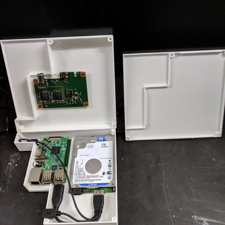 Raspberry Pi 3B and 4B HTPC case