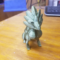 Picture of print of Sapphire Dragon Statue