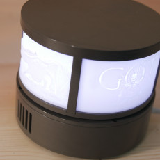 Revolving Lithophane LED Lamp - wifi Controlled