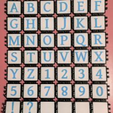 Multicolor Gentium Book Basic Square Font PolyPanels