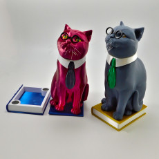 Murphy The Library Cat (with secret book box) -Single Material Package (Complete Single Material Model)