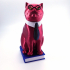 Murphy The Library Cat (with secret book box) -Single Material Package (Complete Single Material Model) image