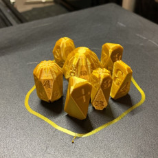 Picture of print of Facets Dice - Full set of custom RPG dice