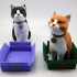 Schrodinky: British Shorthair Cat In A Box - 3D printable multipart model - multi material package image