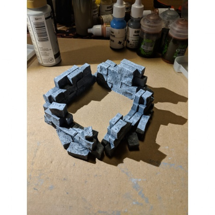 Fantasy Wargame Terrain - Ruined Wall Sections