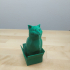 Schrodinky: British Shorthair Cat Sitting In A Box(single extrusion version) print image