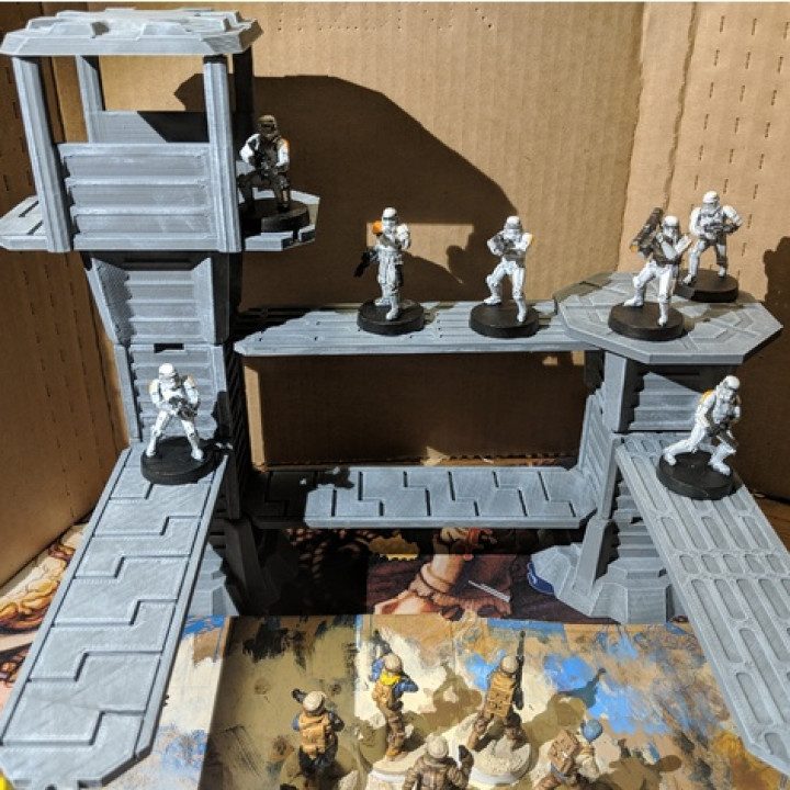 Descargar Star Wars Legion Terrain Modular Watchtower And Walkways De Brander Roullett