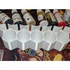 Hexagonal Paint Bottle Holder
