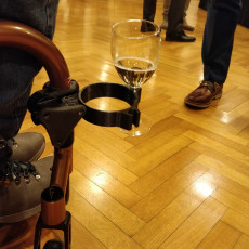 GLASS HOLDER FOR WHEELCHAIR