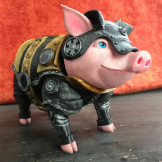 Picture of print of Sir Pigglesby (a most noble piggy bank)