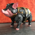 Sir Pigglesby (a most noble piggy bank) print image