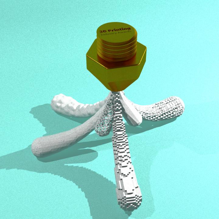 3D Printing Industry Trophy - A Splash of Creativity