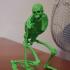 Evil Skeleton Warrior print image