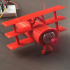 Red Baron airplane solar powered fan image