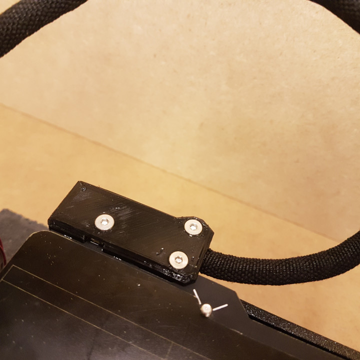 Slim MK52 angled heatbed cable cover
