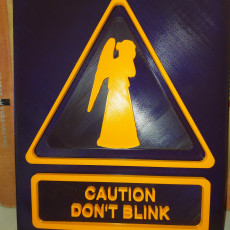 Picture of print of Weeping Angel - Don't Blink sign