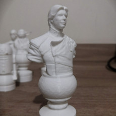 Picture of print of Star Wars Chess Set Revised