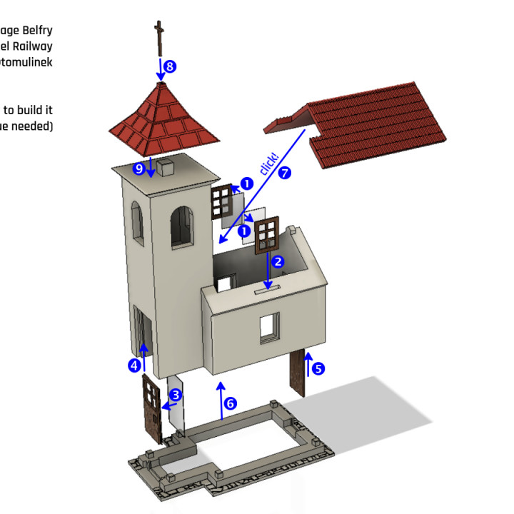 Village Belfry (for Model Railway and Scenery; H0)